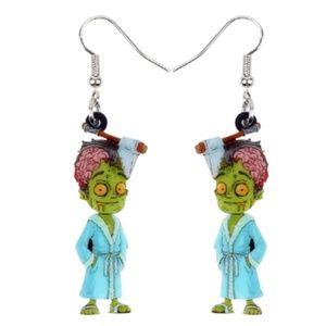 🎃 Just in 🎃 bathrobe zombie acrylic earrings